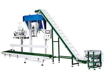 VFFS Machine for Large Bag Packaging,5-50kg,Inclined feeding conveyor