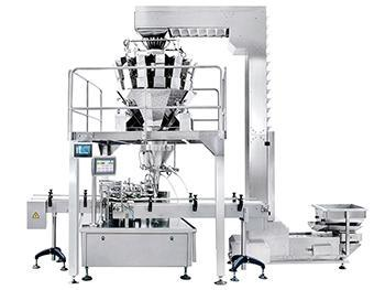 Automatic Jar Filling and Sealing Line, 10 or 14 Head Weigher